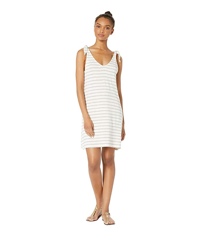 Cupcakes and Cashmere Regina French Terry Tie Shoulder Shift Dress (Ivory) Women