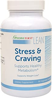 Greens First® Lean™ Stress & Craving Dietary Supplement – Dietary Supplements for Weight Loss – Nutritional Supplements – with Three Key Active Ingredients – 90 Capsules