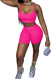 Womens 2 Piece Sports Outfit Tracksuit Shirt Shorts Sportswear Activewear Set