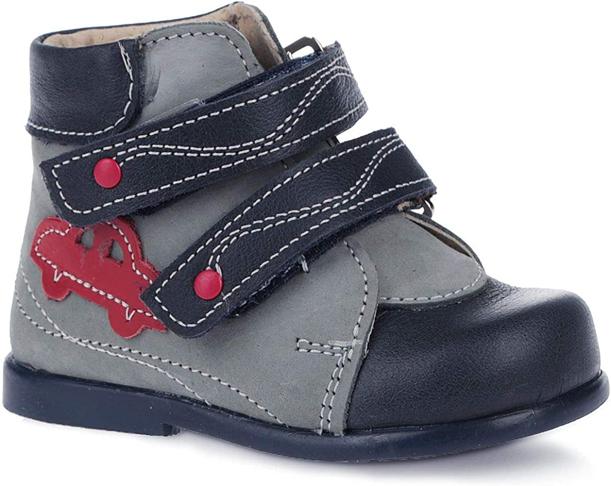 Skorohod First Step Boots 15-141 First Step for Boys and Girls Genuine Leather - High Sole - 2 Fasteners