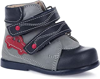 Skorohod Orthopedic Boots First Step for Boys and Girls Genuine Leather - High Sole - 2 Fasteners