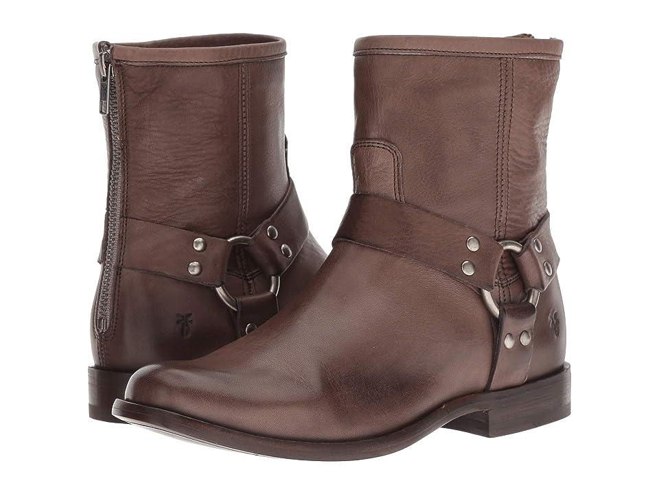 Frye Phillip Harness Short (Grey Soft Vintage Leather) Women