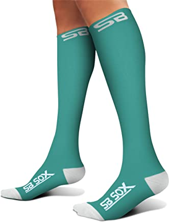 SB SOX Compression Socks (20-30mmHg) for Men & Women - Best Stockings for Running, Medical, Athletic, Edema, Diabetic, Varicose Veins, Travel, Pregnancy, Shin Splints