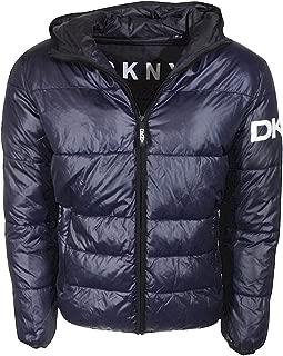DKNY Men's Water Resistant Ultra Loft Hooded Logo Puffer Jacket