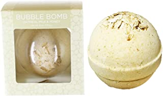Oatmeal Milk and Honey Bubble Bath Bomb by Two Sisters Spa. Large 99% Natural Fizzy for Women, Teens and Kids. Moisturizes...