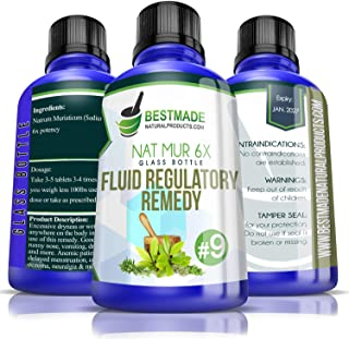 Natrum Muriaticum 6X Glass Bottle | Fluid Regulatory Remedy