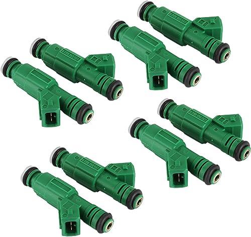 Mophorn Set of 8 42lb EV1 Flow Matched Fuel Injectors 0280155968 High Impedance 440cc Fuel Injectors Fit for Bosch Chevrolet Pontiac Ford TBI LT1 LS1 LS6