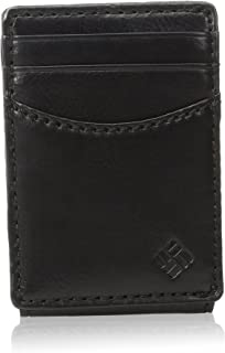 Columbia Leather Wallets for Men - Smart Slim Thin Minimalist Travel Front Pocket Card Money Holder for Travel