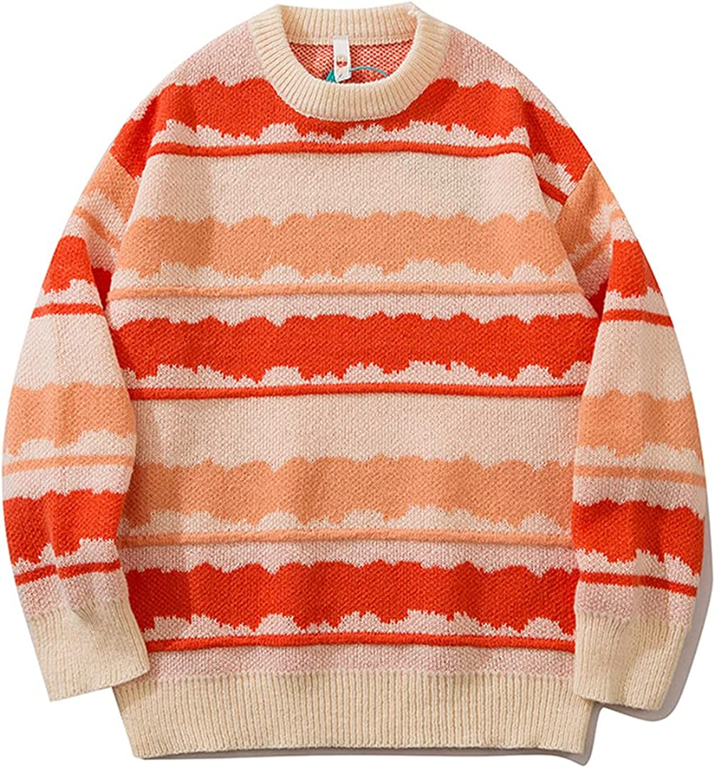 Couple Special price for a limited time Vintage Striped Oversized Jumper Sweater Men Inventory cleanup selling sale Punk Hip Hop
