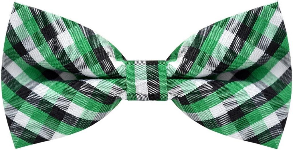 Carahere Handmade Boy's Plaid Bow Ties