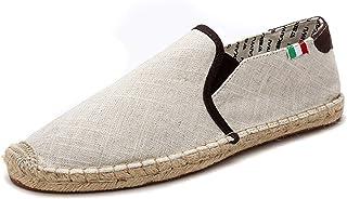 Hommes Chaussures décontractées Chaussures en Toile à Talons Bas Mode Mocassins Souples Chaussures Plates légères pour Cha...