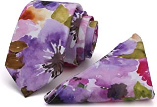 Best burgundy floral tie and pocket square Reviews
