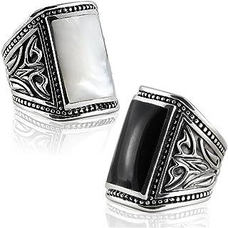 خواتم رجالي من الفضة الإسترلينية 925 الصلبة من VY JEWELRY - مصنوعة في تايلاند