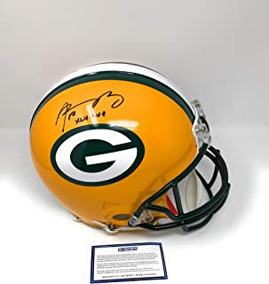 Aaron Rodgers Green Bay Packers Signed Autograph Full Size Proline Authentic Helmet XLV MVP INSCRIBED Steiner Sports Certified