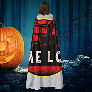 Dr Who Jurassic Park Time Lord Unisex Christmas Halloween Witch Knight Hooded Robe Vampires Cape Cloak Cosplay Costume Black