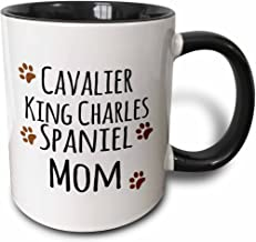 3dRose 154093_4 Cavalier King Charles Spaniel Dog Mom Mug, 11 oz, Black