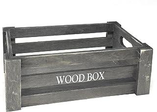 Amazon.es: caja madera gris