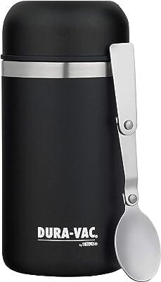 DURA-VAC Vacuum Insulated Stainless Steel Food Jar, 500ml, Black, DVF500BK6AUS
