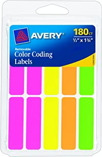 Avery Removable Color-Coding Labels, Removable Adhesive, 1/2