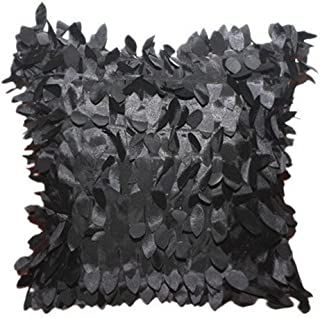 khdug Home Decor Square Pillow Cover Cases Cushion Leaves Feather Cushions Online Bolster Pillow Large Cushions Cushion Covers Sofa Cushion Covers 43cm43cm