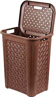 Cello Classic Plastic Laundry Basket, 30 Litres, Brown