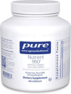 Pure Encapsulations - Nutrient 950 Without Copper, Iron, Iodine - Hypoallergenic Multi-Vitamin/Mineral Formula for Optimal Health* - 180 Capsules