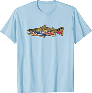 Fab Four Trout T-Shirt Derek DeYoung Fishing Gift