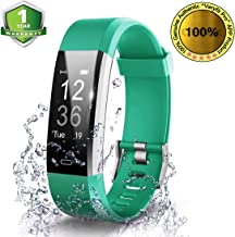 OMNiX Plus HR Smart Wristband Heart Rate Monitor with 0.96 Inch OLED Display (Green)