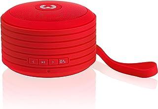 Fresh 'n Rebel RockBox Portable Bluetooth Speaker, Round, Red