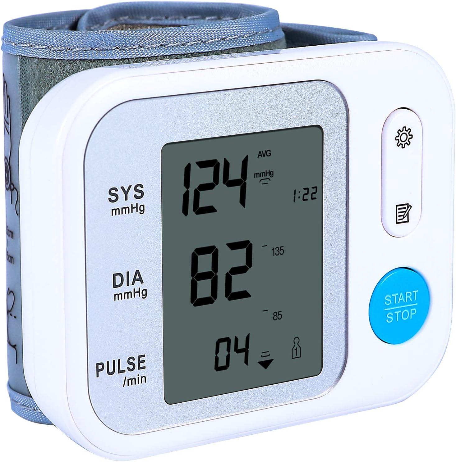 FIGTON Wrist Blood Pressure Monitor Digital L Cuff Bargain with BP Clear Fees free