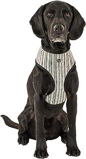MOG & BONE Neoprene Dog Harness Oatmeal Stripe Print Large