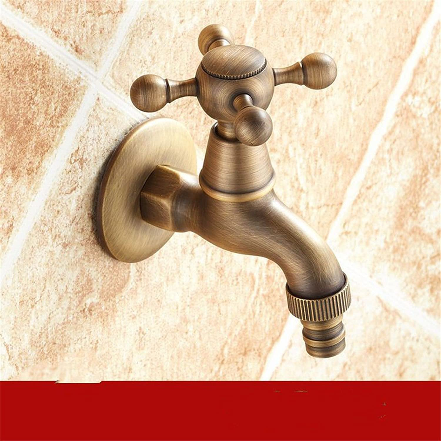 Lpophy Bathroom Sink Mixer Taps Faucet Bath Waterfall Cold and Hot Water Tap for Washroom Bathroom and Kitchen All Copper 4 Points Retro Into The Wall 6 Points Single Cold A