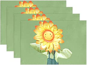 WBSNDB Sun Flower Wind Catcher Children Fun Shield Placemats Set Of 4 Heat Insulation Stain Resistant For Dining Table Durable Non-slip Kitchen Table Place Mats