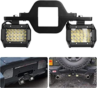 """ACT Sport 3"""" Tow Hitch Mounting Bracket Universal Tube Clamps Trailer Mount Kit for LED Backup Reverse Lights Rear Search Lighting Off Road Lights LED Work Lamps for Trailer Truck SUV RV"""