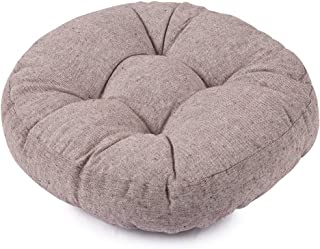 Nathime Patio Round Thicken Chair Pads Outdoor/Indoor Bistro Home Dining Chairs Seat Cushion (Grey)