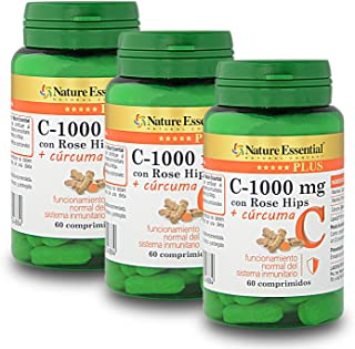 Vitamina C 1000 mg.+ Cúrcuma Nature Essential Plus – Con Vitamina C microencapsulada. Vitamina C