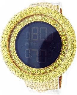 Mens 50mm Techno Com Kc Full Case & Band Yellow Cz Watch
