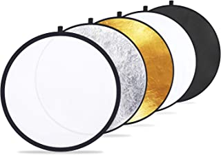 "Etekcity 24"" (60cm) 5-in-1 Portable Collapsible Multi-Disc Photography Light Photo Reflector for Studio/Outdoor Lighting w..."
