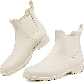 Women's Ankle Rain Boots Waterproof Chelsea Booties Short...