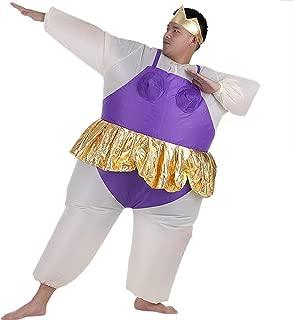 Inflatable Ballet Ballerina Cosplay Costume Halloween Funny Fancy Dress Blow Up Suit