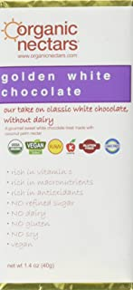 Organic Nectars Bar Golden White Chocolate, 1.40 Ounce Bar (Pack of 12)