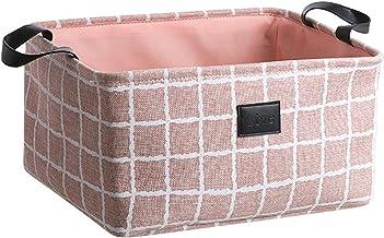 MRBJC Boîte de Rangement Pratique Tiroir en Tissu Panier Stockage de Bureau de Coton Pliable Organisateur pour Maquillage ...