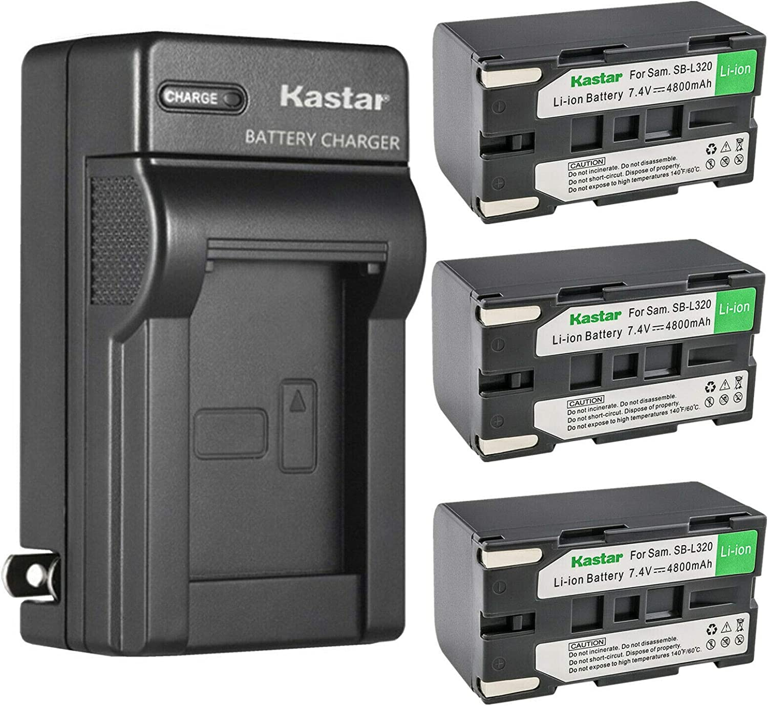 Kastar Max 85% OFF 3-Pack famous SB-L320 Battery and Wall Charger fo AC Replacement
