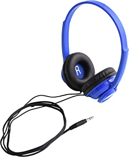 On-Ear Headphones for Smartphones, Stereos and Computers Versatile Design - Blue