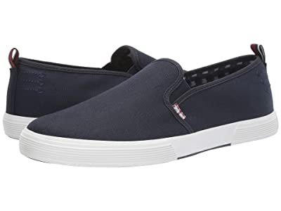Ben Sherman Bradford Slip-On (Navy Cotton) Men