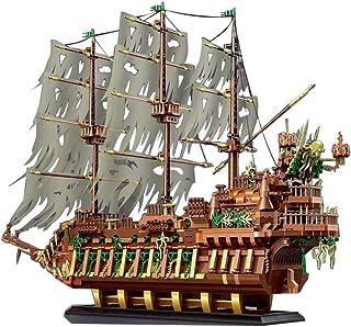 J & J Piratskeppsmodell byggsats för det flygande holländska spökskeppet, 3653 st