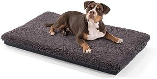brunolie Luna Hundematte, waschbar, hygienisch und rutschfest, weiche Hundedecke mit kuscheligem Plüsch für Hunde & Katzen, Beige & Grau, Größe S-XL