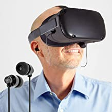 Oritys Earbuds Earphones Custom Made for Oculus Quest All-in-one VR Gaming Headset.