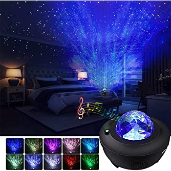 Children S Lighting Starry Night Light Projector Bedroom Galaxy Projector Light Ocean Wave Projector W Led Nebula Cloud And Bluetooth Music Speaker As Gifts Decor Birthday Party Wedding Bedroom Living Tools Home Improvement