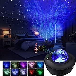 Star Night Light Projector Bedroom,Ocean Wave Projector w/LED Nebula Cloud and Bluetooth Music Speaker As Gifts Decor Birthday Party Wedding Bedroom Living